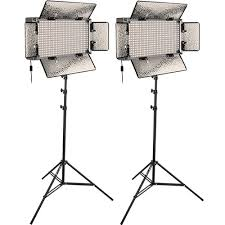 led studio lighting kit genaray spectroled studio 500 bi color led two sp s 500b 2ki b h