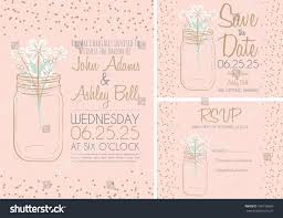 Invitation Cards Design For Marriage Pink Wedding Invitation Card Design Collection Stock Vector