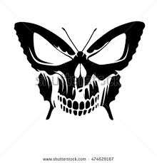 butterfly skull stock vector 474629167