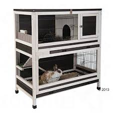 Indoor Hutch Indoor Hutch Wooden Two Levels Cottage Style Stylish Rabbits