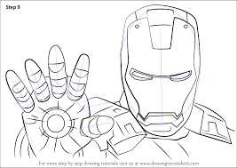 learn how to draw iron man face iron man step by step drawing