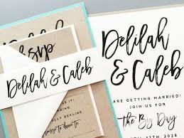 calligraphy invitations wedding invitation wedding invite modern calligraphy wedding
