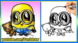 how to draw a minion bob and teddy bear the minions movie
