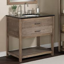 Elements Bathroom Furniture Elements 36 Inch Granite Top Single Sink Bathroom Vanity Rustic