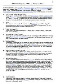 rental lease agreement word template free north dakota residential lease agreement template u2013 pdf u2013 word