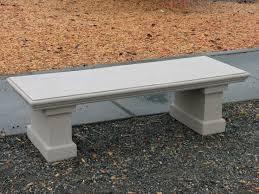 Concrete Table And Benches Concrete Garden Bench Home Outdoor Decoration