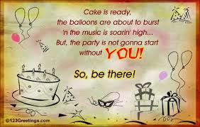 be at my birthday bash free birthday party ecards greeting cards