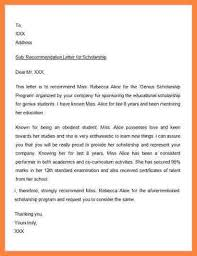 7 how to write a reference letter for scholarship bussines