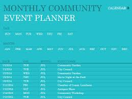 download community event planner calendar templates free