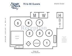 reception room seating arrangements stage neck inn