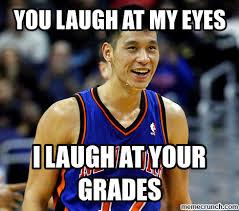 Jeremy Lin Meme - laugh at my eyes