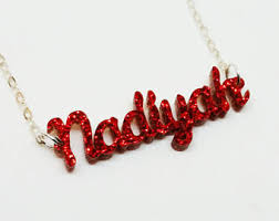 acrylic name necklace acrylic name etsy