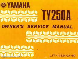 1974 yamaha ty250a motorcycle owners service manual u2022 31 94