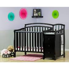 Convertible Cribs With Attached Changing Table Nursery Decors Furnitures Tufted Baby Crib With Convertible