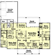 southern style house plan 4 beds 2 50 baths 2900 sq ft plan 430 37