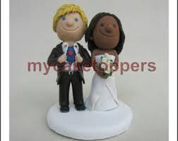 custom wedding cake toppers bride and groom cartoon