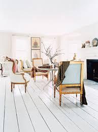 white wood flooring kitchen
