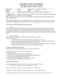 How Can I Do A Resume Syllabus San Jose State University