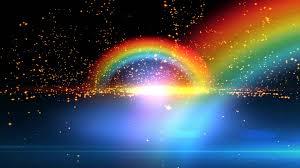 seeing flashes of light spiritual 4k beautiful double rainbow spiritual realm animation background
