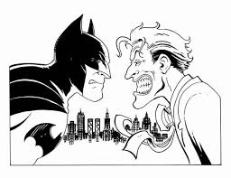 batman joker coloring free coloring pages
