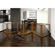 interior awesome wood freestanding pet gate design with wooden