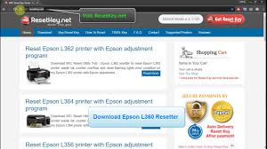 epson l360 ink pad resetter reset epson l360 printer epson adjustment program youtube