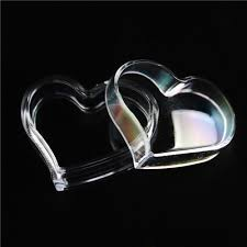 heart shaped candy boxes wholesale 2018 candy boxes heart shaped clear heart plastic jewelry box