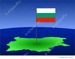 Map Of Bulgaria Map Of Bulgaria With Flag Illustration