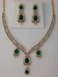 diamond sets images buy diamond emerald anniversary necklace set online best prices