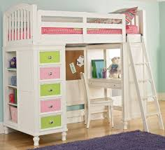 White Wood Loft Bed With Desk by Bed Desk Combo Plans Diy Modern Farmhouse Murphy Bed How To Build