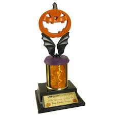 Halloween Costume Trophies Limited Edition Jack Lantern Halloween Trophy Hand Painted