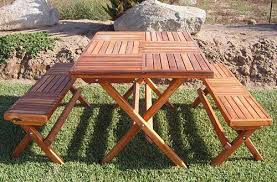 folding picnic table bench sanblasferry