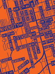 Gainesville Map Gainesville Florida Street Map Print Street Posters