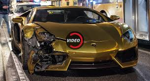 what is a lamborghini aventador gold chrome lamborghini aventador bites the dust in poland