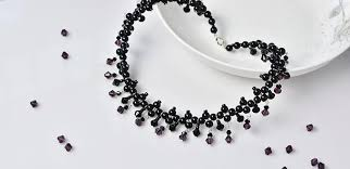 black glass necklace images Pandahall tutorial on how to make chic black glass beads necklace jpg