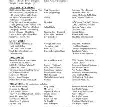 Dance Resume Templates Star Format Resume Proper Format Of A Resume Noc Resume Sample