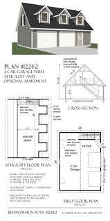 Garage Blueprints Garage With Loft 0124 Garage Plans And Garage Blue Prints
