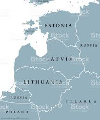 Eastern Europe Political Map by Baltic Countries Political Map Stock Vector Art 614514802 Istock