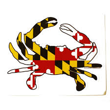 Flag It Stickers Maryland Full Flag Crab Sticker U2013 Route One Apparel