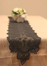 Black Table Ls Black Lace Table Runner
