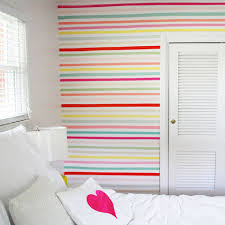 Washi Tape Wall Designs by Cover Bedroom Walls With Fabric
