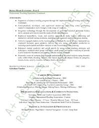 Sample Resume For Teaching Profession by Homey Ideas Early Childhood Education Resume 1 Early Childhood
