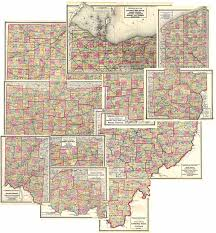 Map Ohio Counties by Walling Gray 1872 Ohio Atlas