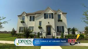 drees custom homes at the canals at grand park in frisco tx youtube