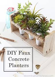 diy faux concrete pallet planter blooming homestead