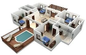 simple 3 bedroom house plans 3 bedroom house plans 3d house plan demo floor plan