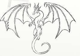 easy dragon drawings