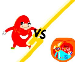 Knuckles Meme - knuckles meme vs tide pods