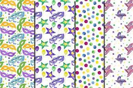 mardi gras paper watercolor mardi gras seamless digital design bundles