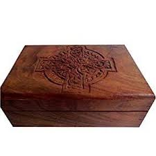 wooden celtic cross jewelry box celtic cross wooden 4 x6 celtic heritage